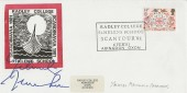 1981 Folklore, Radley College St. Helen's School Abingdon Official FDC, 14p Valentine's Day Stamp only,  Radley College St. Helen's School Scantour '81 Abingdon Oxon H/S, Signed by Yehudi Menuhin Violinist