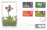 1964, Botanical International Congress, Registered GPO FDC, Primrose Valley Filey Yorkshire cds