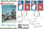 1966 Christmas, Registered Connoisseur FDC, Rare Nasareth Caernarvon cds.