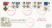 1990 Gallantry, Royal Mail FDC, RAF Post Office Biggin Hill (Red) cds