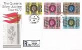 1977, The Queen's Silver Jubilee Tour, Registered Post Office Souvenir Cover, Windsor Castle Windsor Berks. cds
