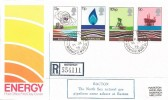 1978 Energy, Registered Post Office FDC, Bacton Norwich Norfolk cds + Cachet.