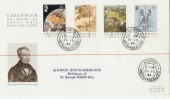 1984 Centenary of the Green Meridian, on Royal Mail FDC, Alnwick, Northumberland cds