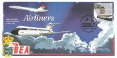 2002 Airliners, Cambridge FDC, E stamp only, 50 Years of Jet Travel Heathrow Airport London H/S, signed by Richard Boas, Pilot.