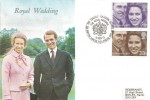 1973, Royal Wedding, Wessex FDC, The Queen's Dragoon Guards BF 1434 PS H/S.