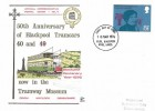 1976, Telephone, Dawn 50th Anniversary of the Blackpool Trams FDC, 8½p Stamp only, Fylde Blackpool Wyre Lancs. FDI