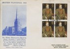 1968 British Paintings, West Country FDC, Block of 4 x 4d Stamps only, Bristol FDI