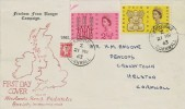 1963 Freedom From Hunger, Newlands Road Philatelic Society FDC, Camborne Cornwall cds