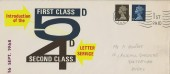 1968, Introduction of  First & Second Class Letter Service, Illustrated FDC, Fulham SW6 1st Paid Cancel