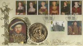 1997, The Great Tudor Henry VIII, Benham Medal FDC, Tower Hill London EC3 H/S, Signed by Keith Michell