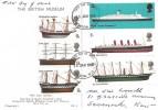 1969, British Ships, British Museum Postcard, London WC FDI
