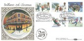 1990, Christmas, Benham BLCS59b Official FDC, 25th Christmas Benham The First in First Day Covers Folkestone Kent