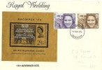 1973 Royal Wedding Prince Anne & Captain Mark Philips, Showpex '73 FDC, Manchester FDI