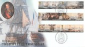 2005 Trafalgar, Buckingham Covers No.225 Official FDC, The Victory 200th Anniversary The Battle of Trafalgar Portsmouth H/S