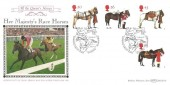 1997, All the Queen's Horses, Benham BLCS130 Official FDC, Queen's Horses Windsor Great Park Windsor Berkshire H/S