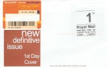 2002, 1st Class Signed For Automated Postage Label, A G Bond Definitive FDC, Cancelled by Red Barcode