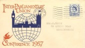 1957 Parliamentary Conference, Illustrated FDC, Loughborough Leicestershire Cancel