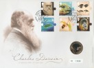 2009 Charles Darwin, Royal Mint £2 Coin Official FDC, On the Origin of Species Downe Orpington Kent H/S