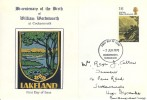 1970 Literary Anniversaries, Roger Callan produced FDC, 1/6d Wordsworth stamp only, Cockermouth Cumberland FDI