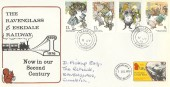 1979, Year of the Child, The Ravenglass & Eskdale Railway FDC, Seascale Cumbria cds
