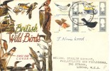 1966 British Birds, Connoisseur FDC, London WC FDI, Signed by the Stamp Designer J. Norris Wood