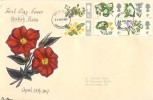 1967 Wild Flowers, Hand Illustrated FDC, Birmingham FDI