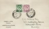1958, 6d & 1s 3d Scotland Regionals, Dibben & Son Philatelists Display FDC, Glasgow cds
