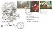 1967 Paintings, Stuart FDC, Port Sunlight Birkenhead Cheshire cds