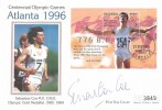 1995, Centennial Olympic Games Atlanta 1996, Uganda Westminster  FDC, Signed by Sebastian Coe, First Day of Issue Kampala FDI