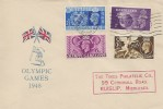 1948, Olympic Games Wembley, The Times Philatelic Co. FDC, Olympic Games Wembley Slogan