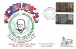 1965 Sir Winston Churchill, Connoisseur FDC, Churchill Oxford cds
