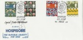 1982 British Textiles European Floral City Exeter Official FDC, European Floral City Exeter H/S
