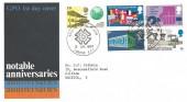 1969 Notable Anniversaries, GPO FDC, National Postal Museum London EC1 H/S