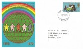 1970, General Anniversaries, Thames Covers International Co-operation Alliance FDC, 1/- Stamp Only, London EC FDI