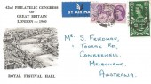 1960, General Letter Office, 42nd Philatelic Congress London FDC, Ilkley Yorkshire cds
