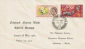 1963 Nature Week, Aylesbury Grammar School Philatelic Society FDC, Aylesbury Bucks. cds