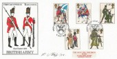 1983 British Army, Save The Children Fund FDC, First Day of Issue Aldershot H/S, Signed by the Stamp Designer Eric Stemp