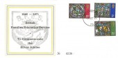 1971 Christmas, British Families Education Service Silver Jubilee FDC, Forces Post Office 79 cds