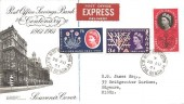 1961 Registered Post Office Savings Bank FDC, Blythe Road West Kensington cds. Scarce