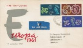 1961 CEPT, Europa Illustrated FDC, Golders Green cds