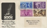 1948 Olympic Games Wembley, Illustrated FDC, Olympic Games Wembley Gt. Brit Slogan