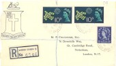 1961 CEPT, Registered Burke Family FDC, Pair 10p stamps Only, Wood Green cds