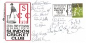 1981, Slindon Cricket Club Commemorative Cover, 250th Anniversary of the Noble Sport at Slindon Cricket Club Arundel West Sussex H/S , Signed by the Team