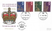 1978, 25th Anniversary of the Coronation, British Library No.7 Official FDC, 1953 Coronation 1978 The British Library London WC H/S