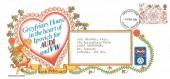 1981 Folklore, Greyfriars House Audi / VW Dealer FDC, 14p Valentine's Day Stamp only, Ipswich Suffolk FDI