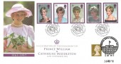 1998 Diana Prince of Wales, Royal Mail FDC, Overprinted & doubled with the Engagement of Prince William & Catherine Middleton 2010, Kensington London W8 H/S, & Royal Mail London SW H/S