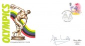 1988 Sport, Harry Allen Olympics FDC, 18p Stamp only, Signed by Allan Wells