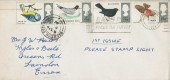 1966 British Birds, Plain FDC, Basildon Faces the Future Slogan