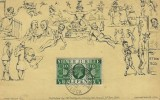1935, King George V Silver Jubilee, J W Southgate Library FDC, ½d Green Stamp only, Matlock Bank Matlock cds
