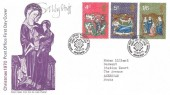 1970 Christmas, Post Office FDC, British Post Office Philatelic Bureau Edinburgh H/S, Signed by the Stamp Designer